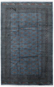 Pakistan Bokhara 3Ply Tæppe 205X315 Ægte Orientalsk Håndknyttet Mørkeblå/Mørkegrå (Uld, Pakistan)