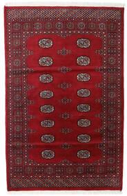 Pakistan Bokhara 2Ply Tæppe 119X186 Ægte Orientalsk Håndknyttet Mørkerød/Rød (Uld, Pakistan)
