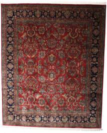 Keshan Indisk Tæppe 247X298 Ægte Orientalsk Håndknyttet Mørkerød/Mørkebrun (Uld, Indien)
