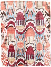 Sari Pure Silke Tæppe 154X204 Ægte Moderne Håndknyttet Beige/Mørk Beige (Silke, Indien)