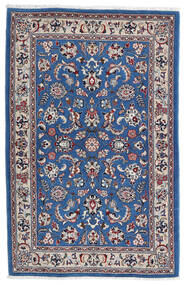 Kashmar Tæppe 105X160 Ægte Orientalsk Håndknyttet Lysegrå/Mørkeblå (Uld, Persien/Iran)