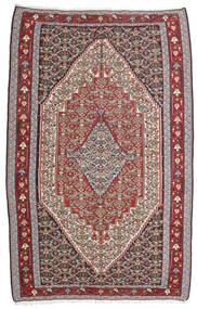 Kelim Senneh Tæppe 160X246 Ægte Orientalsk Håndvævet Lysegrå/Mørkegrå (Uld, Persien/Iran)