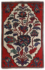 Kelim Golbarjasta Tæppe 95X145 Ægte Orientalsk Håndvævet Mørkegrå/Lysegrå (Uld, Afghanistan)