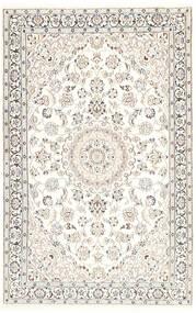 Nain 9La Tæppe 116X181 Ægte Orientalsk Håndknyttet Beige/Lysegrå/Hvid/Creme (Uld/Silke, Persien/Iran)