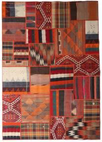 Tekkeh Kelim Tæppe 162X231 Ægte Moderne Håndvævet Mørkerød/Mørkebrun (Uld, Persien/Iran)