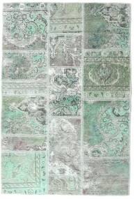 Patchwork - Persien/Iran Tæppe 106X158 Ægte Moderne Håndknyttet Lysegrå/Pastel Grøn (Uld, Persien/Iran)