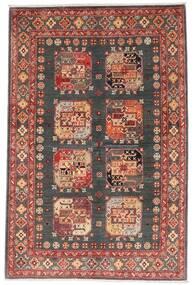 Kazak Tæppe 118X179 Ægte Orientalsk Håndknyttet Mørkerød/Mørkegrå (Uld, Afghanistan)