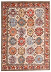 Kazak Tæppe 244X342 Ægte Orientalsk Håndknyttet Lysebrun/Beige (Uld, Afghanistan)