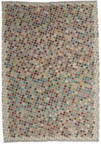 Kelim Afghan Old Style Tæppe 209X292 Ægte Orientalsk Håndvævet Lysegrå/Mørkegrå (Uld, Afghanistan)
