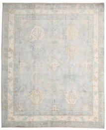 Kazak Tæppe 245X296 Ægte Orientalsk Håndknyttet Lysegrå/Hvid/Creme (Uld, Afghanistan)