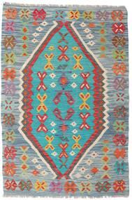 Kelim Afghan Old Style Tæppe 103X152 Ægte Orientalsk Håndvævet Lysegrå/Lyseblå (Uld, Afghanistan)