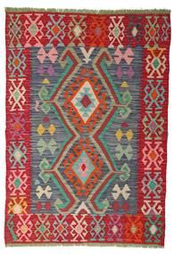 Kelim Afghan Old Style Tæppe 100X141 Ægte Orientalsk Håndvævet Rust/Rød (Uld, Afghanistan)
