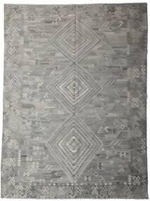 Kelim Ariana Tæppe 259X344 Ægte Moderne Håndvævet Lysegrå/Mørkegrå Stort (Uld, Afghanistan)