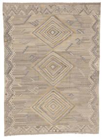 Kelim Ariana Tæppe 254X340 Ægte Moderne Håndvævet Lysegrå/Mørkegrå Stort (Uld, Afghanistan)