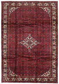 Hosseinabad Tæppe 211X300 Ægte Orientalsk Håndknyttet Mørkerød/Mørkebrun (Uld, Persien/Iran)