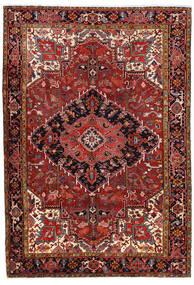 Heriz Tæppe 227X330 Ægte Orientalsk Håndknyttet Mørkerød/Rust (Uld, Persien/Iran)