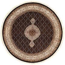 Tabriz Royal Tæppe Ø 151 Ægte Orientalsk Håndknyttet Rundt Mørkerød/Brun ( Indien)