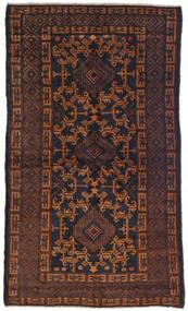 Beluch Tæppe 100X180 Ægte Orientalsk Håndknyttet Mørkebrun (Uld, Afghanistan)