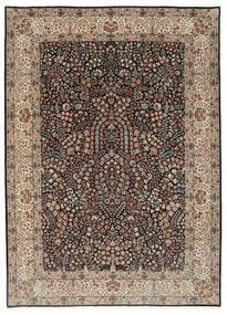 Kerman Lavar Tæppe 250X348 Ægte Orientalsk Håndknyttet Lysegrå/Sort Stort (Uld/Silke, Persien/Iran)