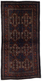 Beluch Tæppe 105X200 Ægte Orientalsk Håndknyttet Mørkerød (Uld, Afghanistan)