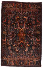 Beluch Tæppe 125X195 Ægte Orientalsk Håndknyttet Sort/Mørkerød (Uld, Afghanistan)