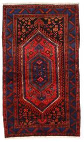 Zanjan Tæppe 135X236 Ægte Orientalsk Håndknyttet Mørkeblå/Mørkerød/Rust (Uld, Persien/Iran)