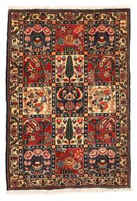 Bakhtiar Collectible Tæppe 108X161 Ægte Orientalsk Håndknyttet Mørkebrun/Mørkerød (Uld, Persien/Iran)