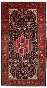 Nahavand Tæppe 156X286 Ægte Orientalsk Håndknyttet Mørkerød/Mørkebrun (Uld, Persien/Iran)