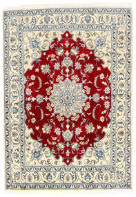 Nain Tæppe 168X237 Ægte Orientalsk Håndknyttet Beige/Lysegrå (Uld, Persien/Iran)