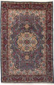 Kerman Tæppe 196X299 Ægte Orientalsk Håndknyttet Mørkerød/Mørkebrun (Uld, Persien/Iran)