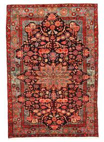 Nahavand Old Tæppe 158X230 Ægte Orientalsk Håndknyttet Mørkerød/Rust (Uld, Persien/Iran)