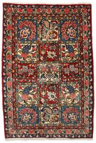 Bakhtiar Collectible Tæppe 107X156 Ægte Orientalsk Håndknyttet Mørkebrun/Mørkerød (Uld, Persien/Iran)