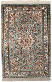 Kashmir Pure Silke Tæppe 65X96 Ægte Orientalsk Håndknyttet Lysegrå/Mørkegrå (Silke, Indien)