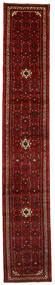 Hosseinabad Tæppe 65X388 Ægte Orientalsk Håndknyttet Tæppeløber Mørkerød/Mørkebrun (Uld, Persien/Iran)