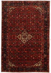 Hosseinabad Tæppe 214X315 Ægte Orientalsk Håndknyttet Mørkerød/Rust (Uld, Persien/Iran)