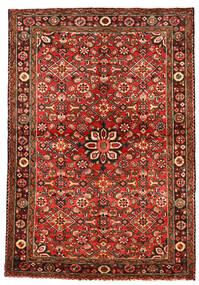 Hosseinabad Tæppe 113X163 Ægte Orientalsk Håndknyttet Mørkerød/Rust (Uld, Persien/Iran)
