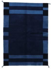 Gabbeh Indisk Tæppe 143X201 Ægte Moderne Håndknyttet Mørkeblå (Uld, Indien)