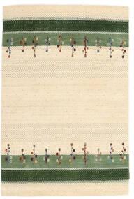 Loribaf Loom Tæppe 123X186 Ægte Moderne Håndknyttet Beige/Olivengrøn (Uld, Indien)