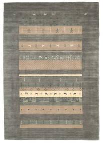 Loribaf Loom Tæppe 137X164 Ægte Moderne Håndknyttet Mørkegrå/Lysegrå (Uld, Indien)