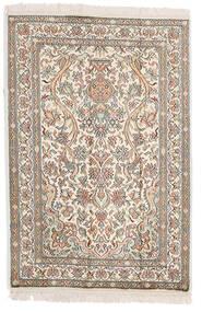 Kashmir Pure Silke Tæppe 64X95 Ægte Orientalsk Håndknyttet Lysegrå/Beige (Silke, Indien)