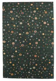 Loribaf Loom Tæppe 197X297 Ægte Moderne Håndknyttet Mørkegrøn (Uld, Indien)