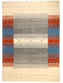 Loribaf Loom Tæppe 138X197 Ægte Moderne Håndknyttet Beige/Lysegrå (Uld, Indien)