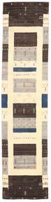Loribaf Loom Tæppe 80X243 Ægte Moderne Håndknyttet Tæppeløber Mørkebrun/Beige/Lysegrå (Uld, Indien)
