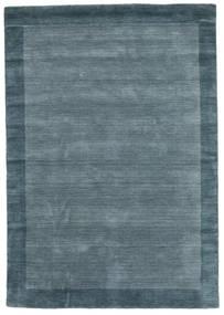 Handloom Frame - Petrol Blå Tæppe 160X230 Moderne Blå (Uld, Indien)