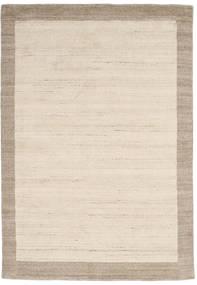 Handloom Frame - Natural/Sand Tæppe 160X230 Moderne Beige/Lysegrå (Uld, Indien)