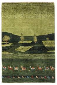 Gabbeh Persia Tæppe 104X150 Ægte Moderne Håndknyttet Mørkegrøn/Olivengrøn (Uld, Persien/Iran)