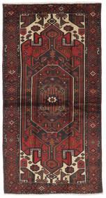 Hamadan Tæppe 107X207 Ægte Orientalsk Håndknyttet Sort/Mørkebrun (Uld, Persien/Iran)